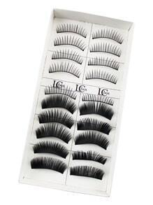 Multi Shaped False Eyelashes 10 Pair