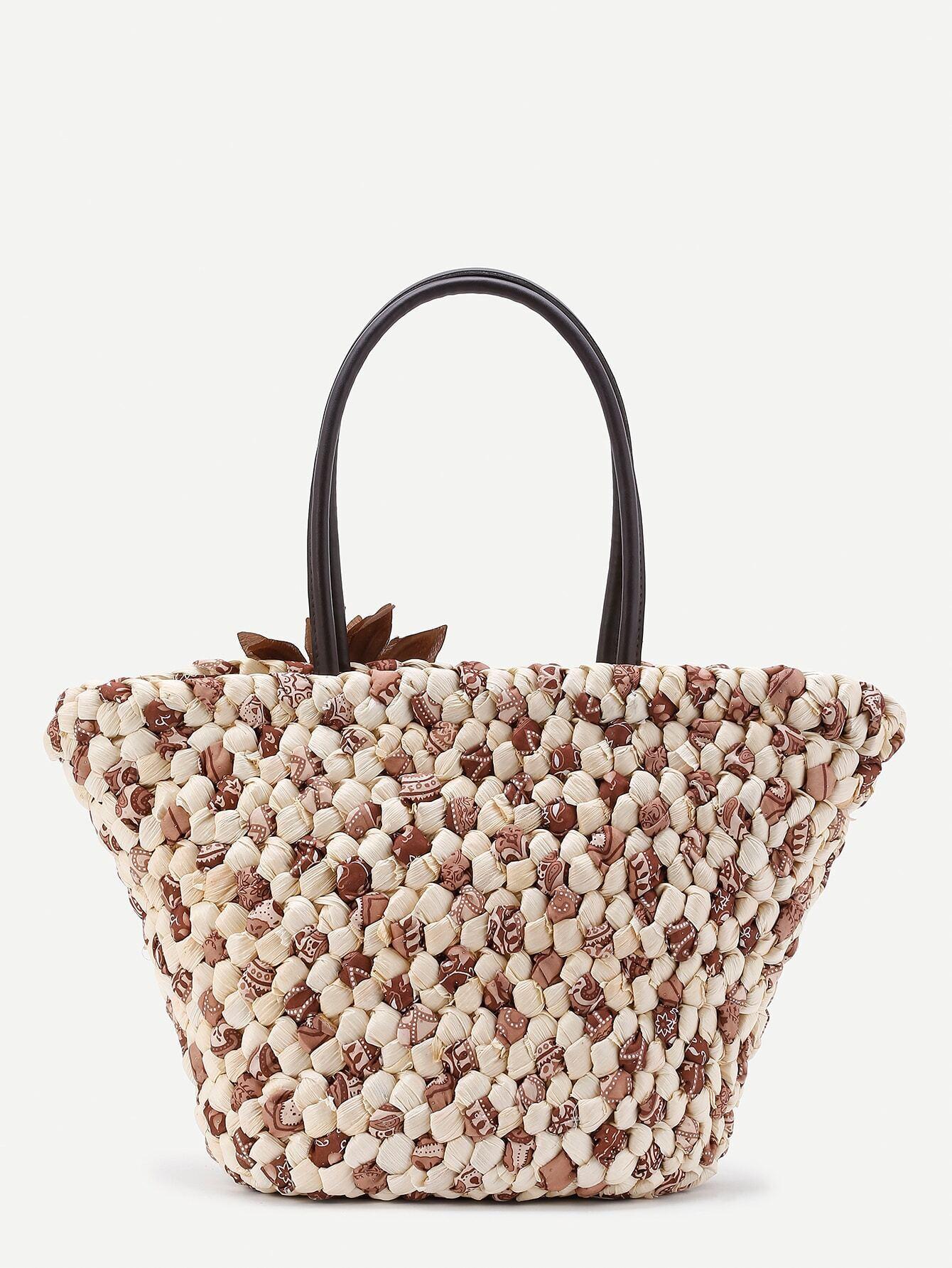 sac fourre tout a paille avec fleur french romwe With affiche chambre bébé avec tote bag fleurs