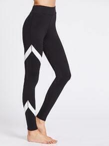 Chevron Pattern Gym Leggings