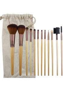 Slender Cosmetic Brush With Bag