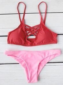 Criss Cross Front Mix & Match Bikini Set