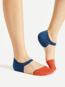 Color Block Invisible Socks