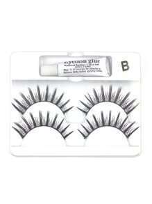 False Eyelashes 2 Pair With Glue