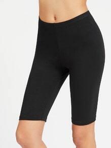 Leggings cortos de cintura elástica - negro