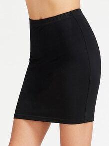 Falda entallada con cintura elástica - negro