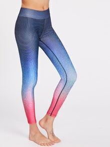 Leggins gimnástico de color de gradiente