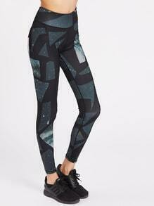 Active Geometric Galaxy Print Leggings