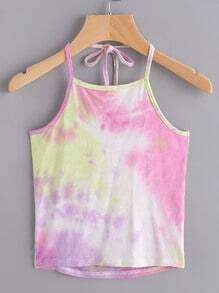 Halter Neckline Water Color Cami Top