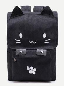 Netter Katze geformter Segeltuch-Rucksack