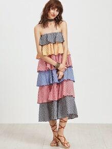 Bandeau Kleid in Schichten - multciolor