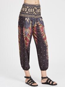 Paisley Print Yoga Pants
