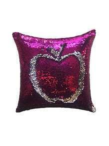 Apple Design Sequin Cushion Cover