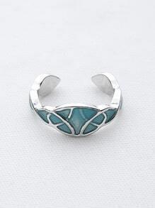 Geometric Pattern Luminous Cuff Ring