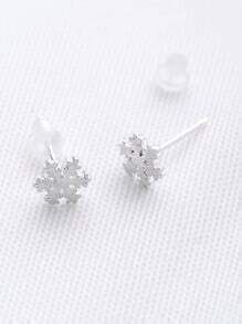 Snowflake Shaped Stud Earrings