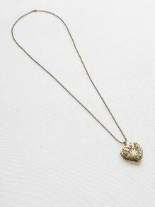 Hollow Out Heart Luminous Pendant Necklace