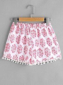 Shorts al azar con bolitas con estampado