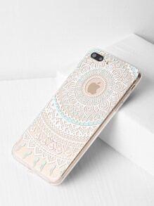 Flower Design Clear iPhone 7 Plus Case