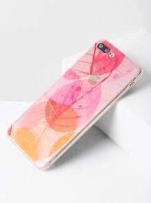 Leaf Print Clear Soft iPhone 7 Plus Case