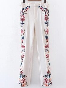 Floral Full Length Bell-Bottoms Pants