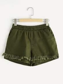 Shorts con diseño de espiga