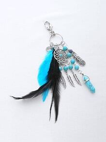 Dreamcatcher And Feather Charm Keychain