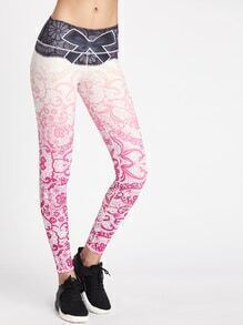 Active Ombre Florals Sports Leggings