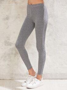 Stripe Side Skinny Leggings
