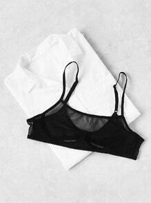 Mesh Front Sexy Bralet