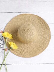 Sombrero de paja para la playa