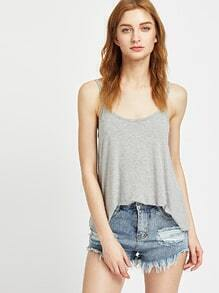 Top casual - gris
