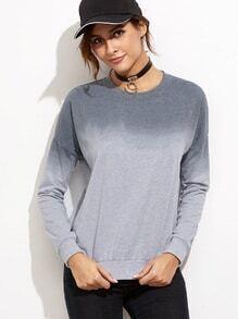 Sweatshirt Drop Schulter -grau