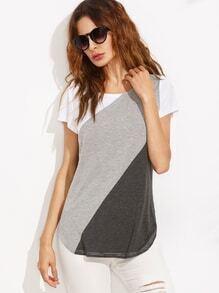T-Shirt kurzarm - kontrastfarbig