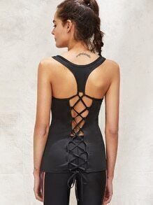 Active Lace Up Back Sports Top