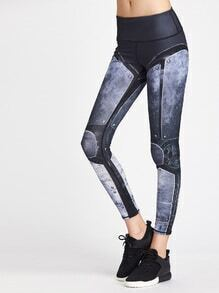 Active Mechanical Print Legging