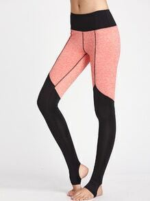 Leggins con puto superior y estribo de color combinado