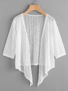 Hanky hem Open Front Sheer Top