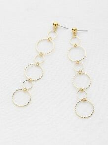 Multi Hoop Textured Drop Earrings