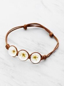 Glass Flower Knot Bracelet