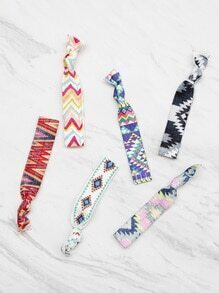 Geometric Print Knot Hair Tie Set