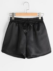 Shorts de cintura elástica con cordón