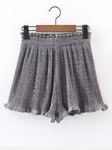 Shorts frucido de cintura elástica