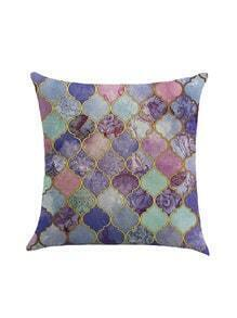 Patchwork Print Pillowcase Cover