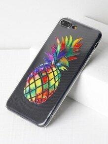 Pineapple Print Soft iPhone 7 Plus Case