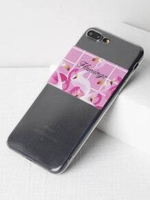 Flamingo Print Soft iPhone 7 Plus Case