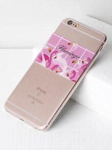 Flamingo Print Soft iPhone 6 Plus/6s Plus Case