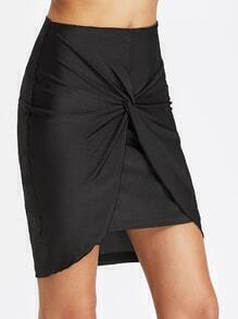 Twist Knot Zipper Back Skirt