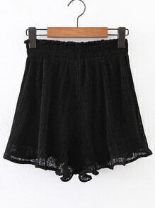 Shorts fruncido de cintura elástica