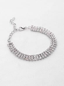Multi Row Rhinestone Bracelet