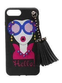 Girl Print iPhone 7 Plus Case With Tassel
