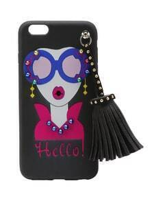 Girl Print iPhone 6 Plus/6s Plus Case With Tassel